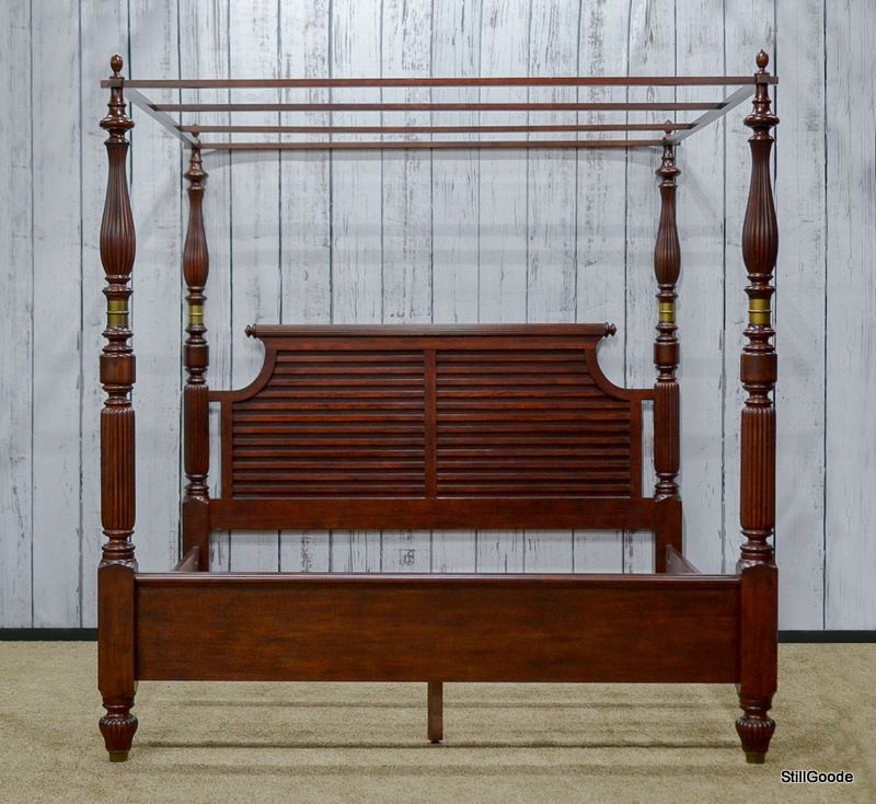 National Bedroom Furniture: Fabulous King Size Poster Bed With Canopy By Lane