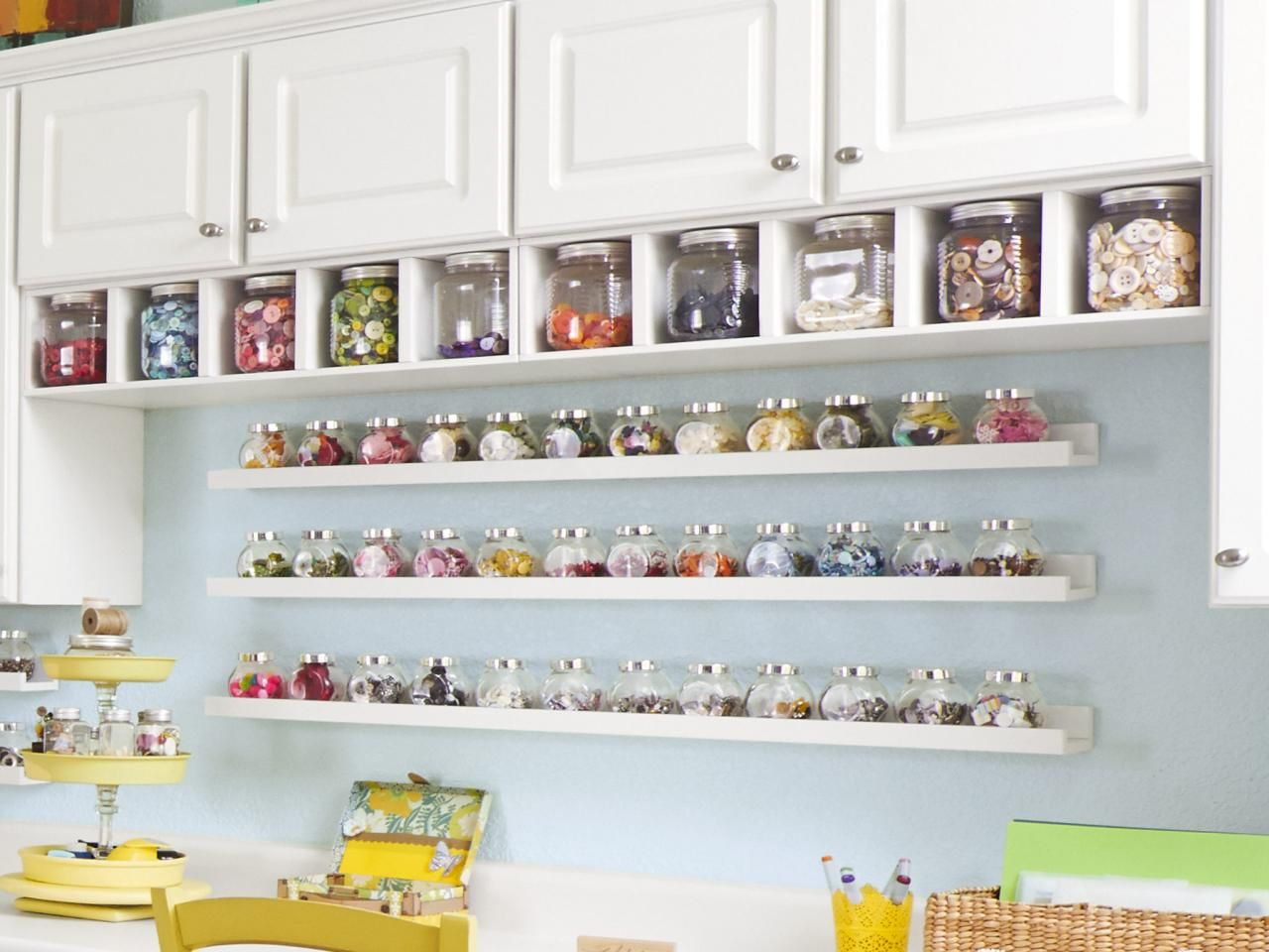 Craft room organization ideas - Craft And Sewing Room Storage And Organization