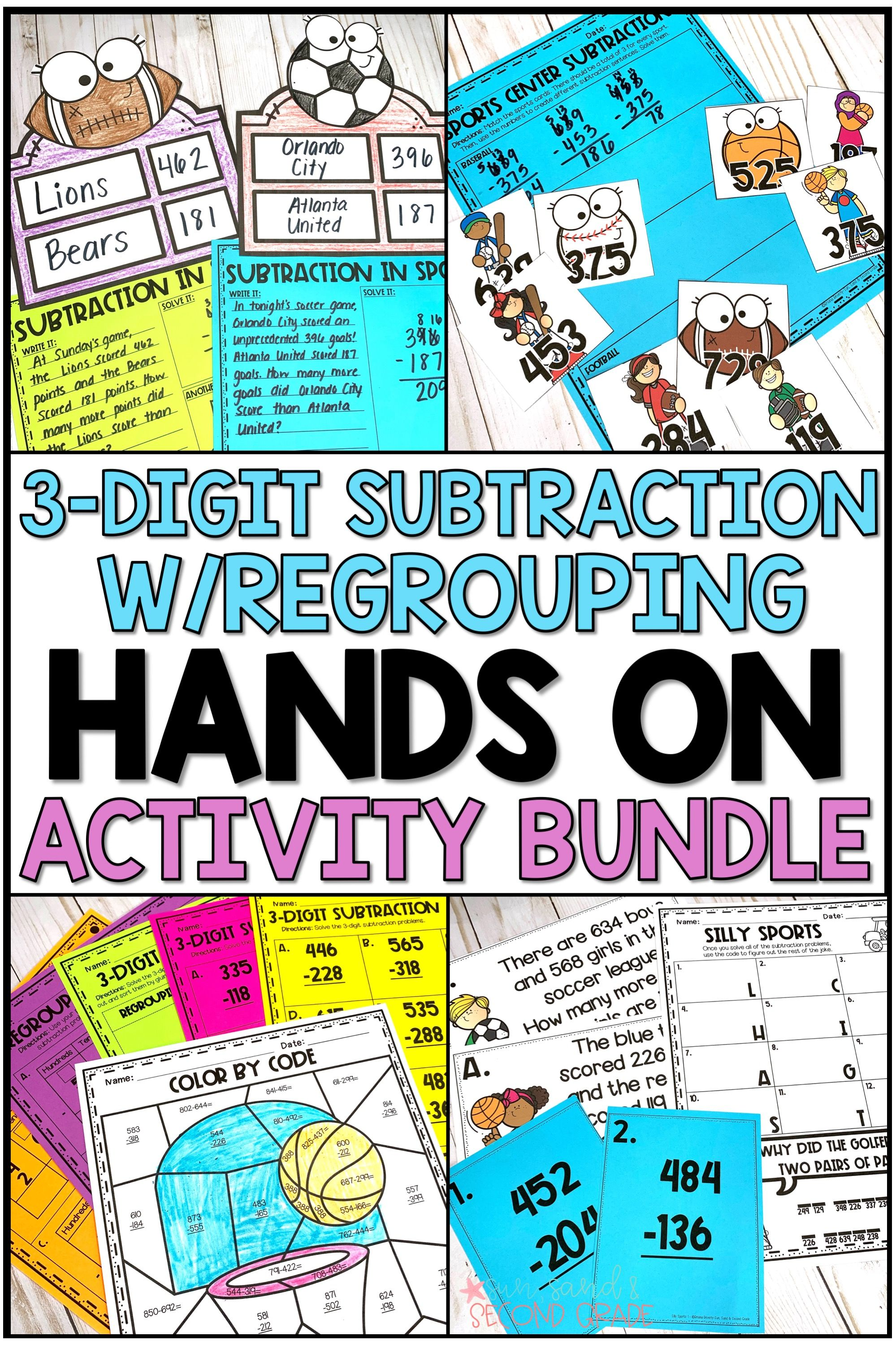 Triple Digit Subtraction With Regrouping Activities