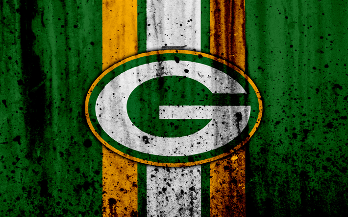 Download wallpapers 4k, Green Bay Packers, grunge, NFL
