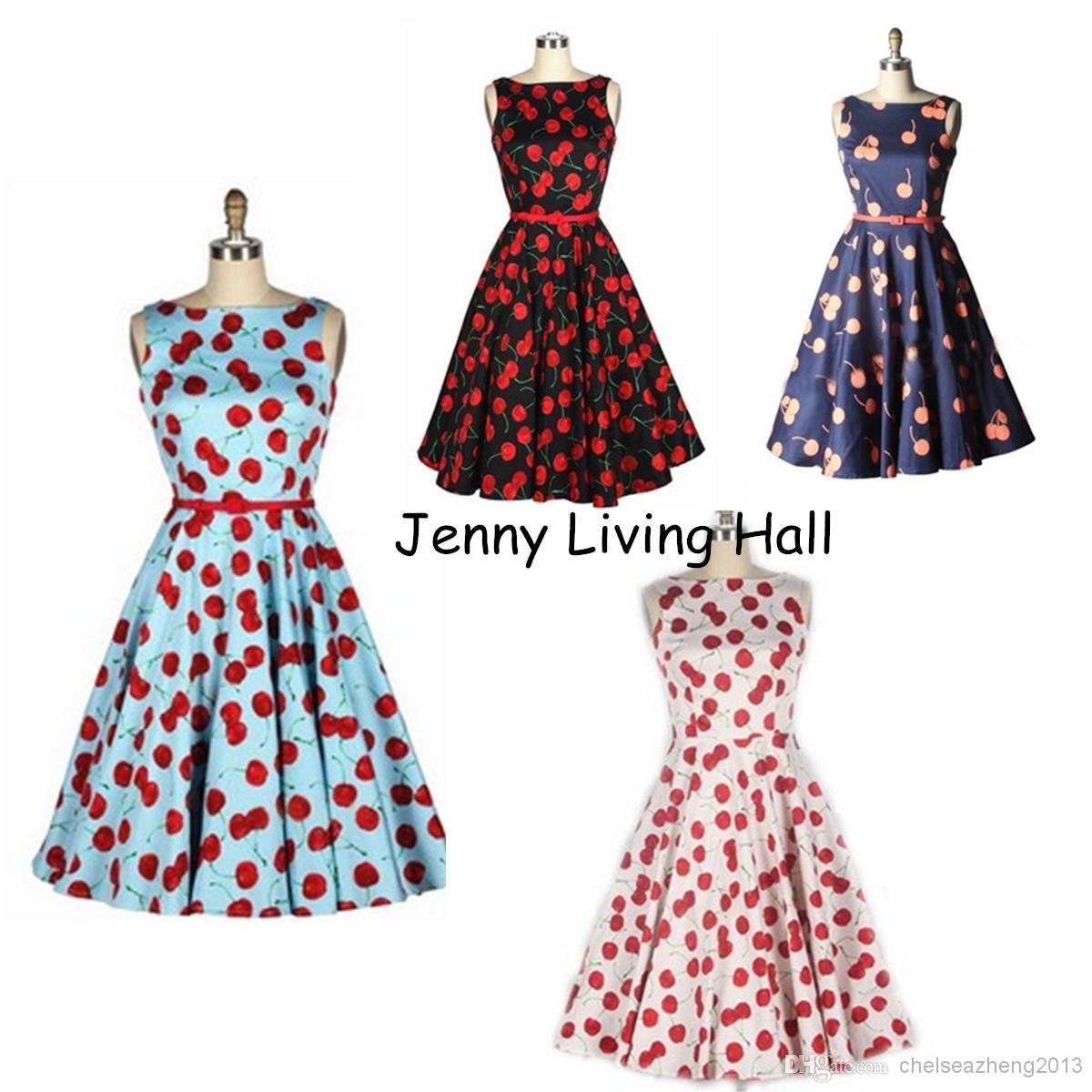 Wholesale european american style retro audrey hepburn swing dress