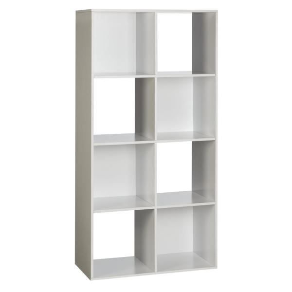 Onespace 48 In White Wood 8 Shelf Cube Bookcase With Open Storage 50 81201 Organizador Cubo Living