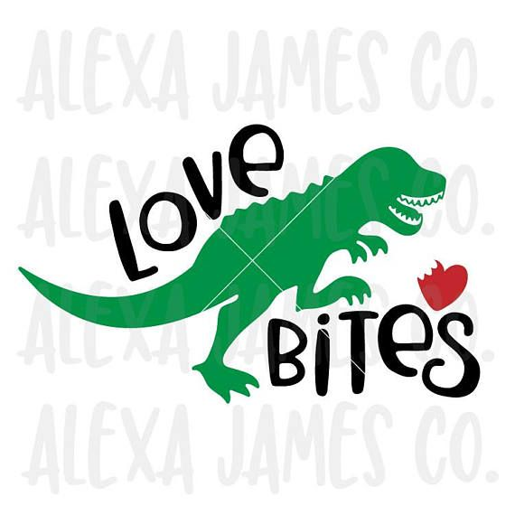 Download Valentine svg Love Bites svg Dinosaur svg T Rex svg ...