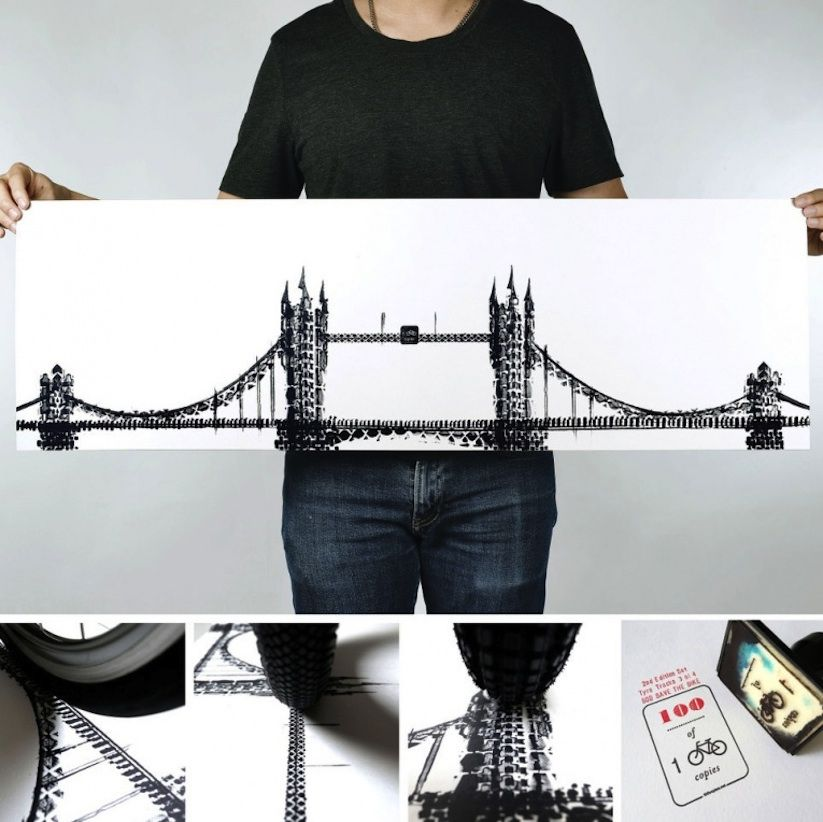 Famous_Landmarks_Printed_with_Bicycle_Tire_Tracks_by_Artist_Thomas_Yang_2014_06