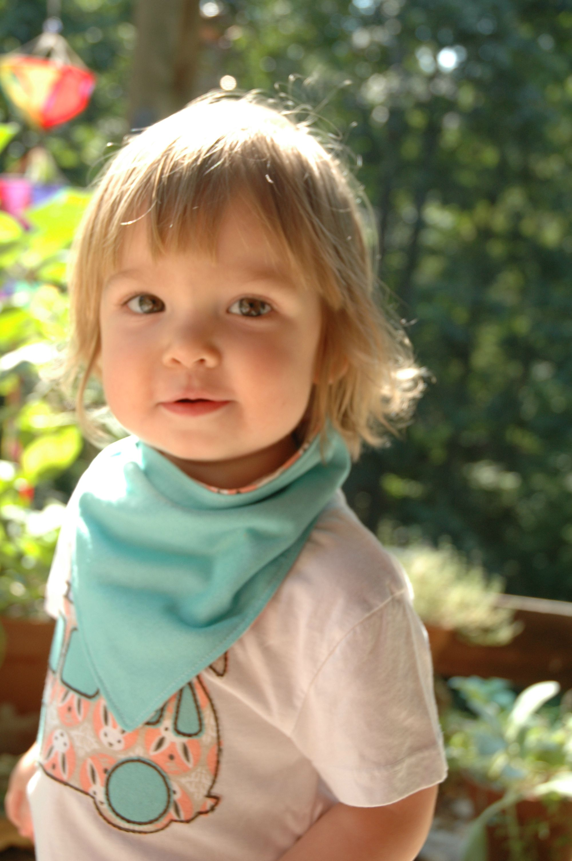 photo makeover time for the shop, and i love these of my little gal wearing the bandana drool bib & matching VW bus tee