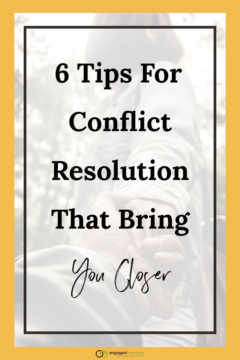 Conflict resolution in dating relationships