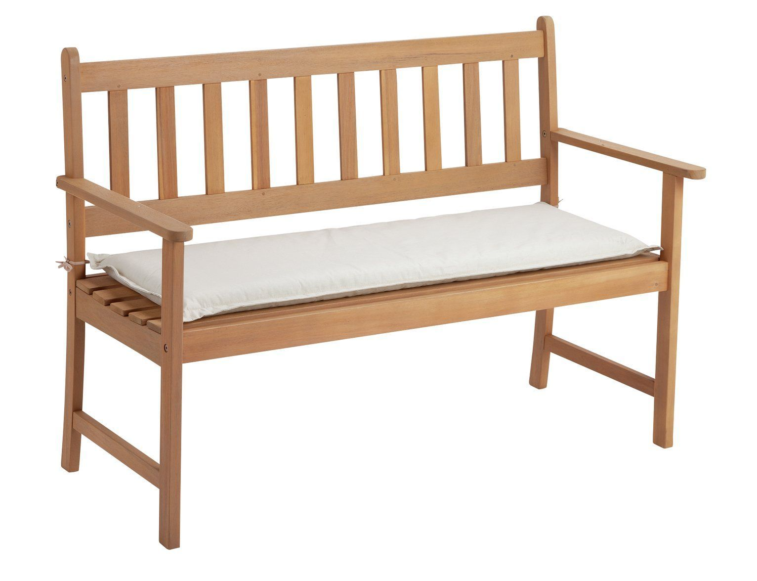 Argos Home Garden Bench Cushion Cream, Argos Bench