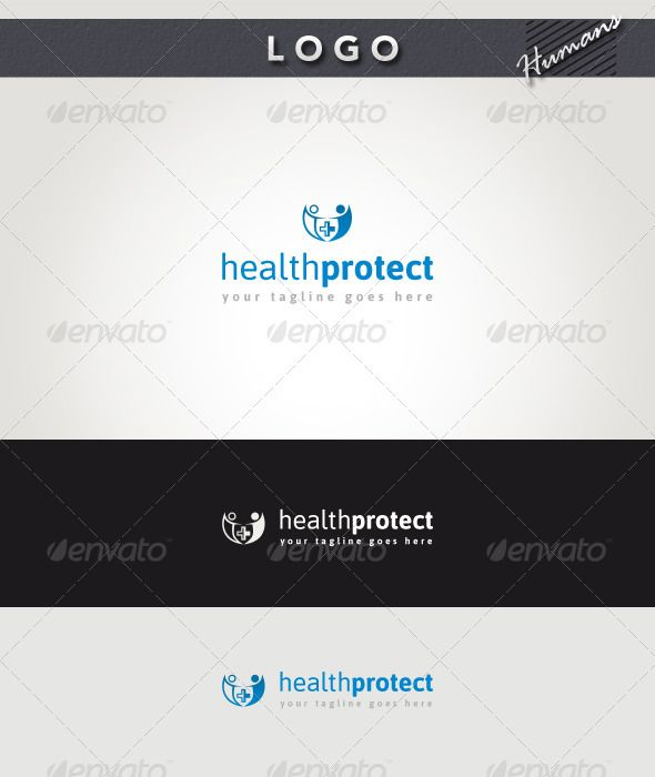 Health Protect Logo — Photoshop PSD #protect #social • Available here → https://graphicriver.net/item/health-protect-logo/2741801?ref=pxcr