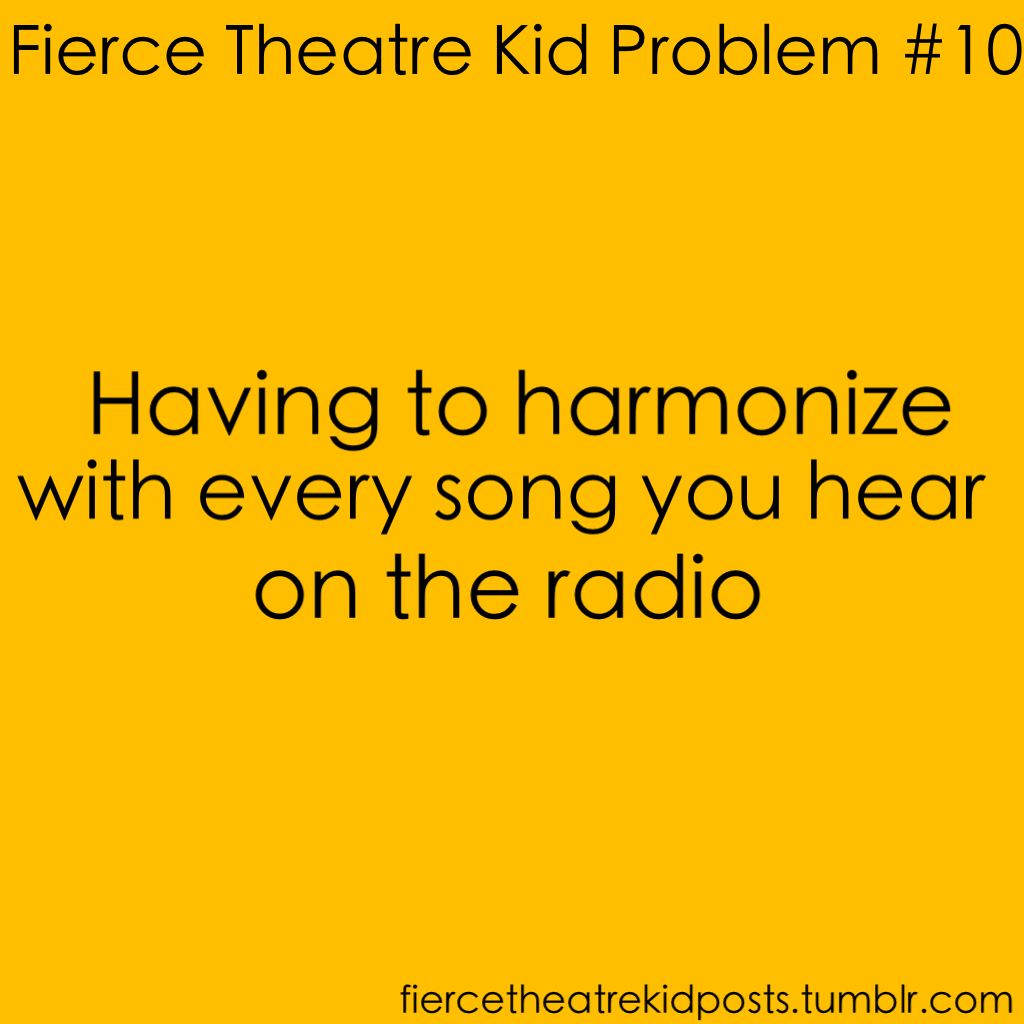 I CAN'T HELP IT!! And at church. And the worst part is if you mess up it just sounds like you're singing off-key.