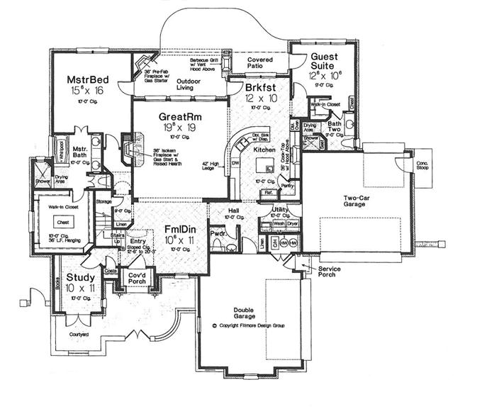 European Style House Plan 4 Beds 3 5 Baths 3514 Sq Ft Plan 310 1276 House Plans Floor Plan Design European House Plans