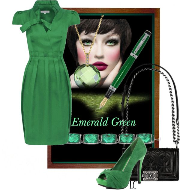 """Emerald green"" by lindacaricofe on Polyvore"