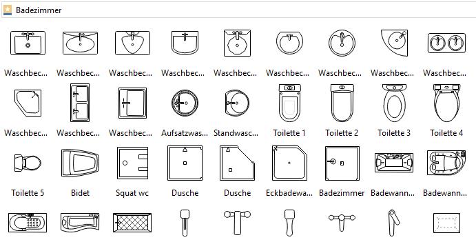 Symbole für Küchenplan | Grundriss Baupläne