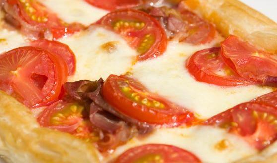 Ham, Tomato and Mozzarella Puff Tart