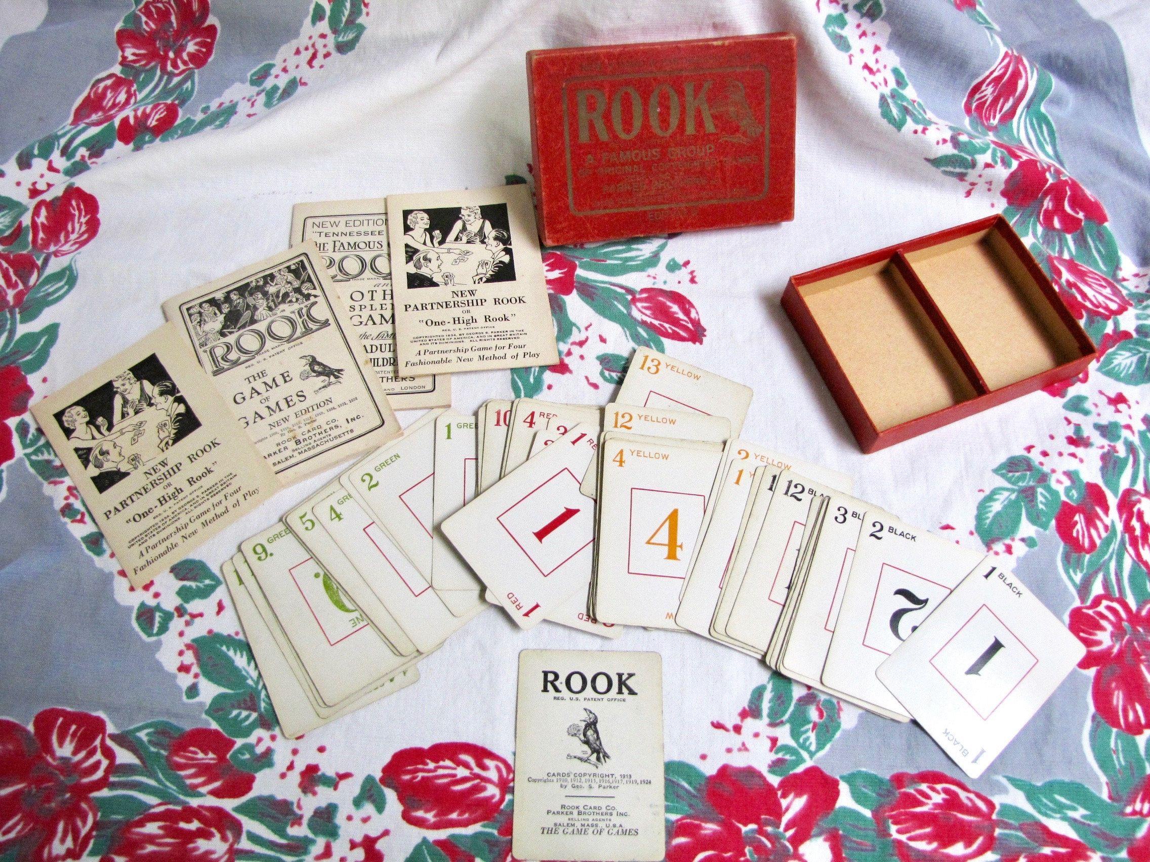 Antique rook card game rook vintage game antique card game