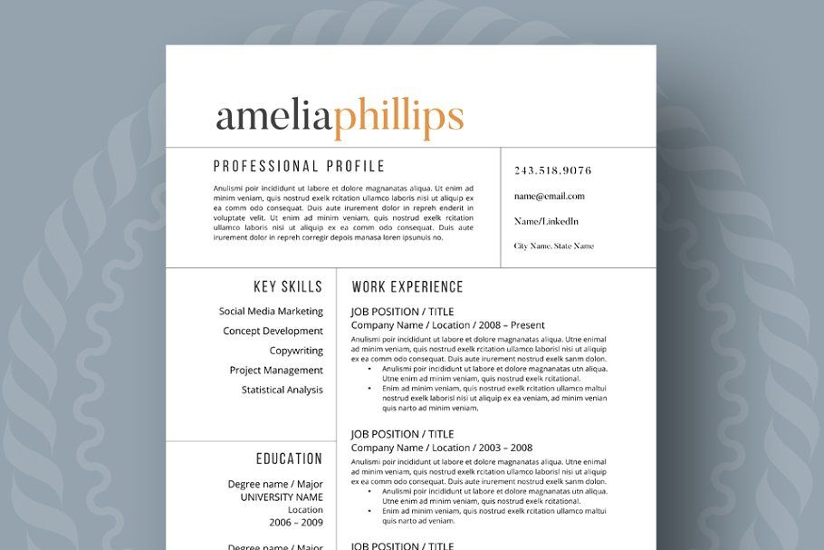 Ad Modern Resume Template by ResumeFoundry on