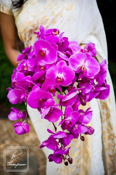 Purple Orchid Cascading Bridal Bouquet Orchid Bouquet Wedding Bridal Bouquet Orchid Wedding