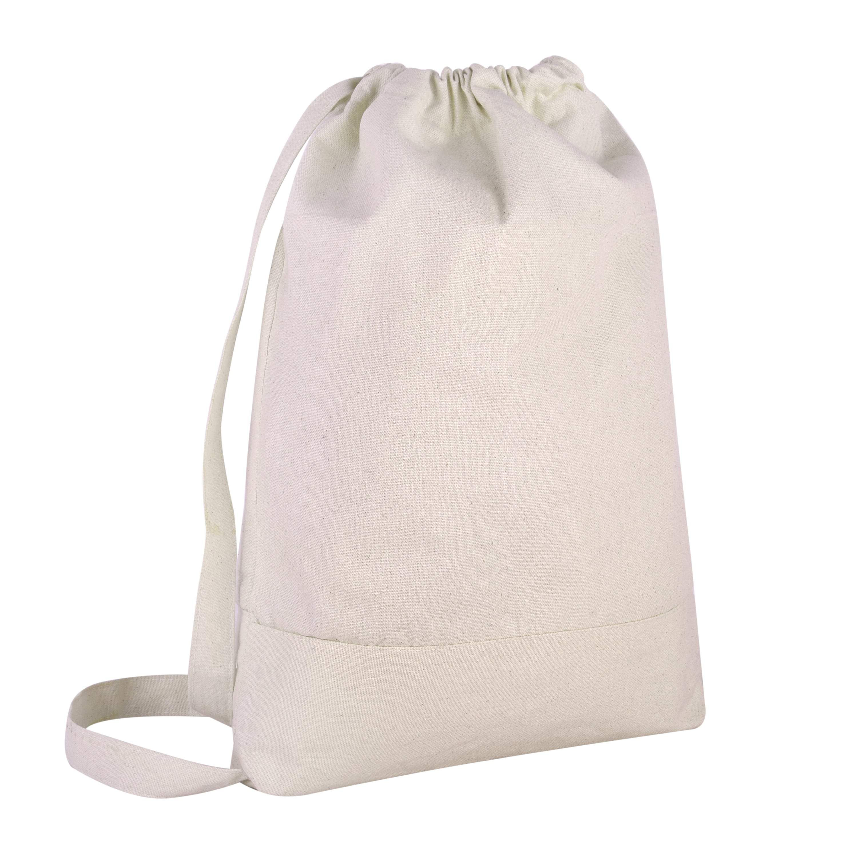 Minimal rose design embroidered drawstring bag gymbag