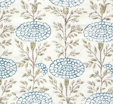 Samode Indigo On Oyster Hand Printed On 100 Natural Linen Hand Printed Linen Fabric Wallpaper Linen Drapery Panels