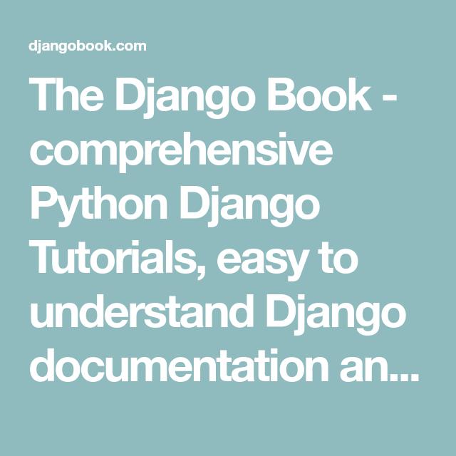 Easy More Comprehensive: Comprehensive Python Django Tutorials