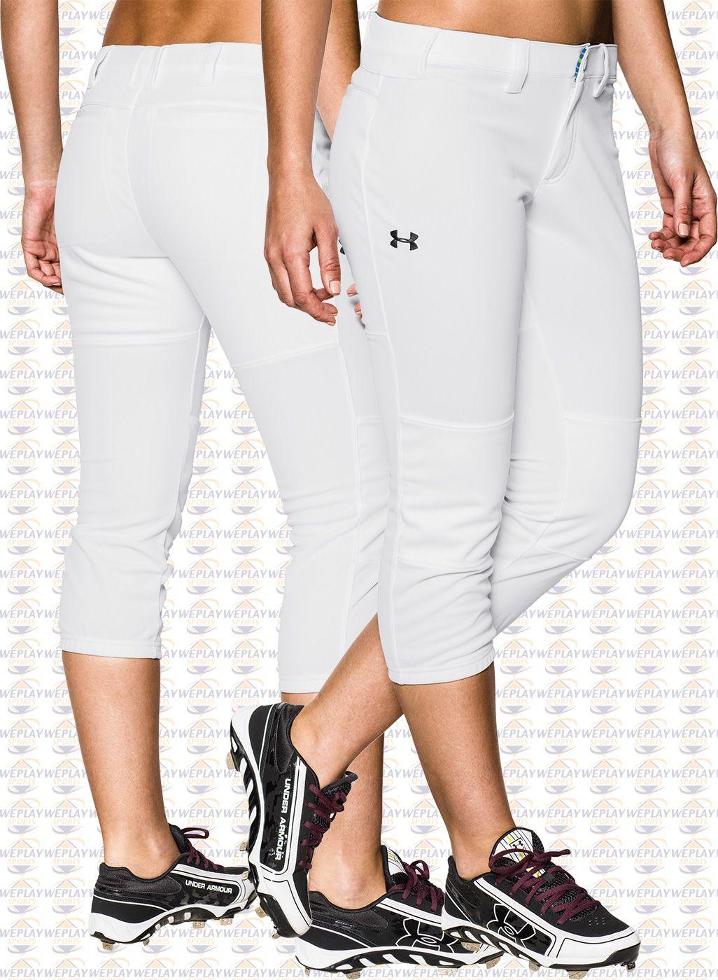 06a85a8eaa Under Armour HeatGear Strike Zone Womens Fastpitch Softball Pants ...