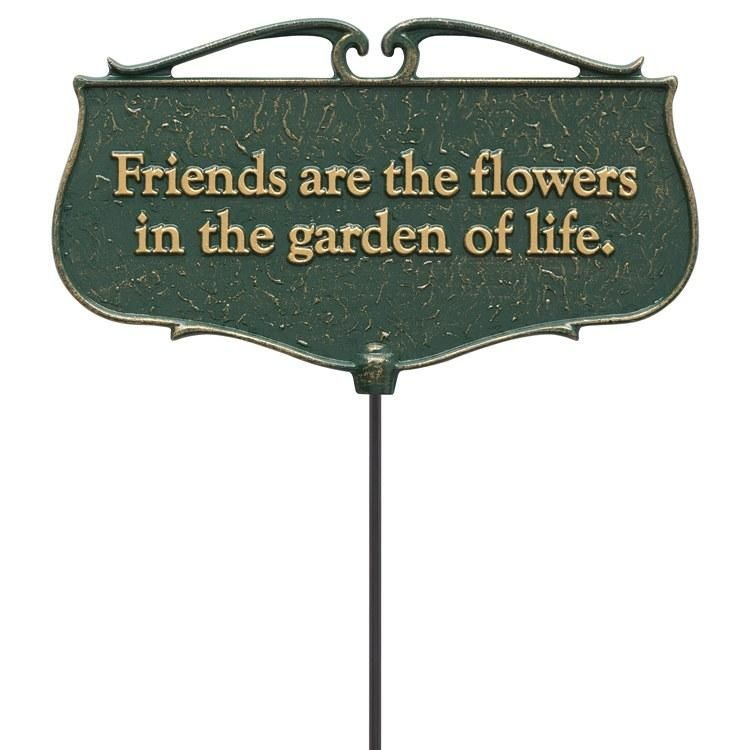 WHITEHALL 10041 Friends are the Flowers Garden Poem Sign