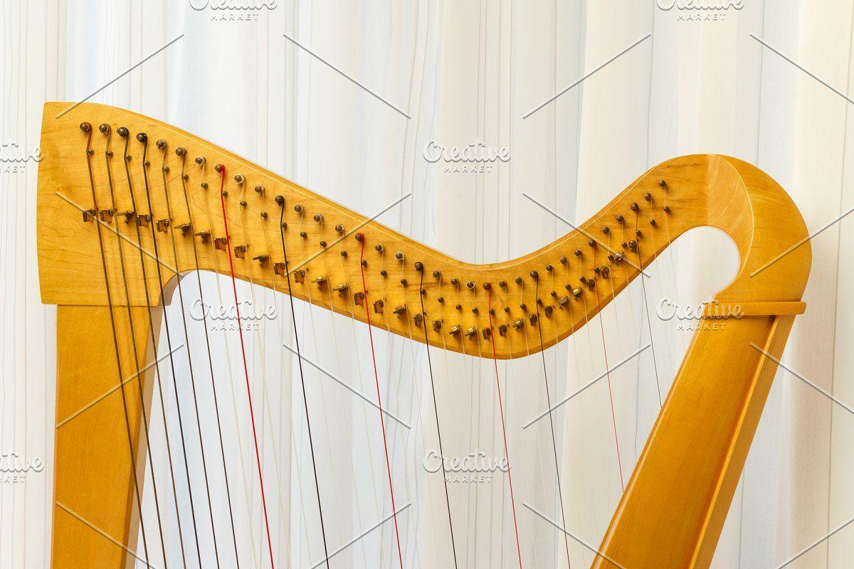 Photo of Celtic harp close-up top part #Sponsored , #Paid, #part#Top#harp#celtic