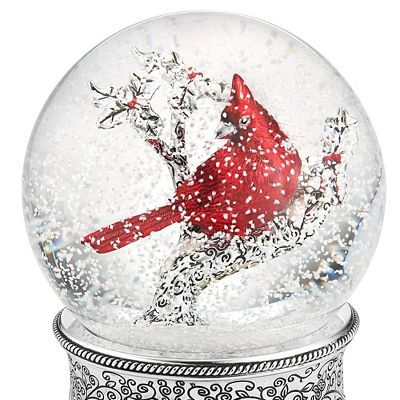 Cardinal Water Globe at Things Remembered $34.99