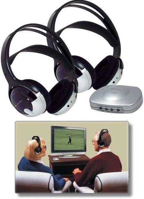 d199d12a510 Unisar TV920 TV Listener J3 Infrared Wireless Stereo Two Headphone System