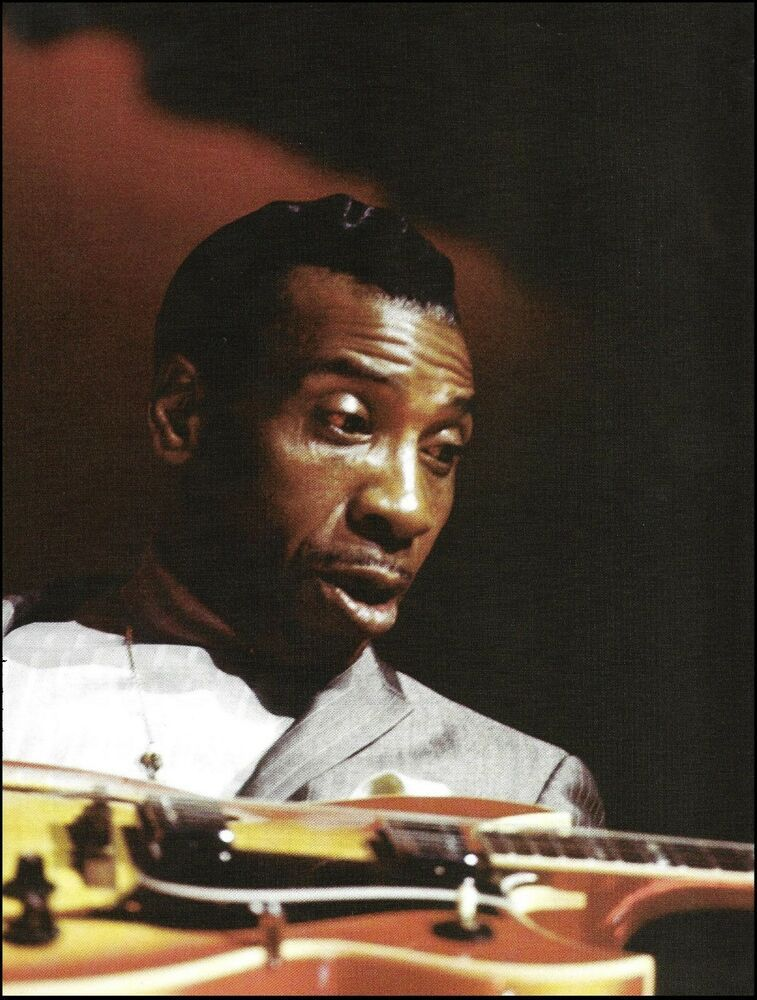 T-Bone Walker with Signature Gibson guitar 8 x 11 color pin-up photo #gibsonguitars
