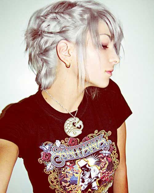 Kapsels zilver-Grijs Haar - Korte Kapsels