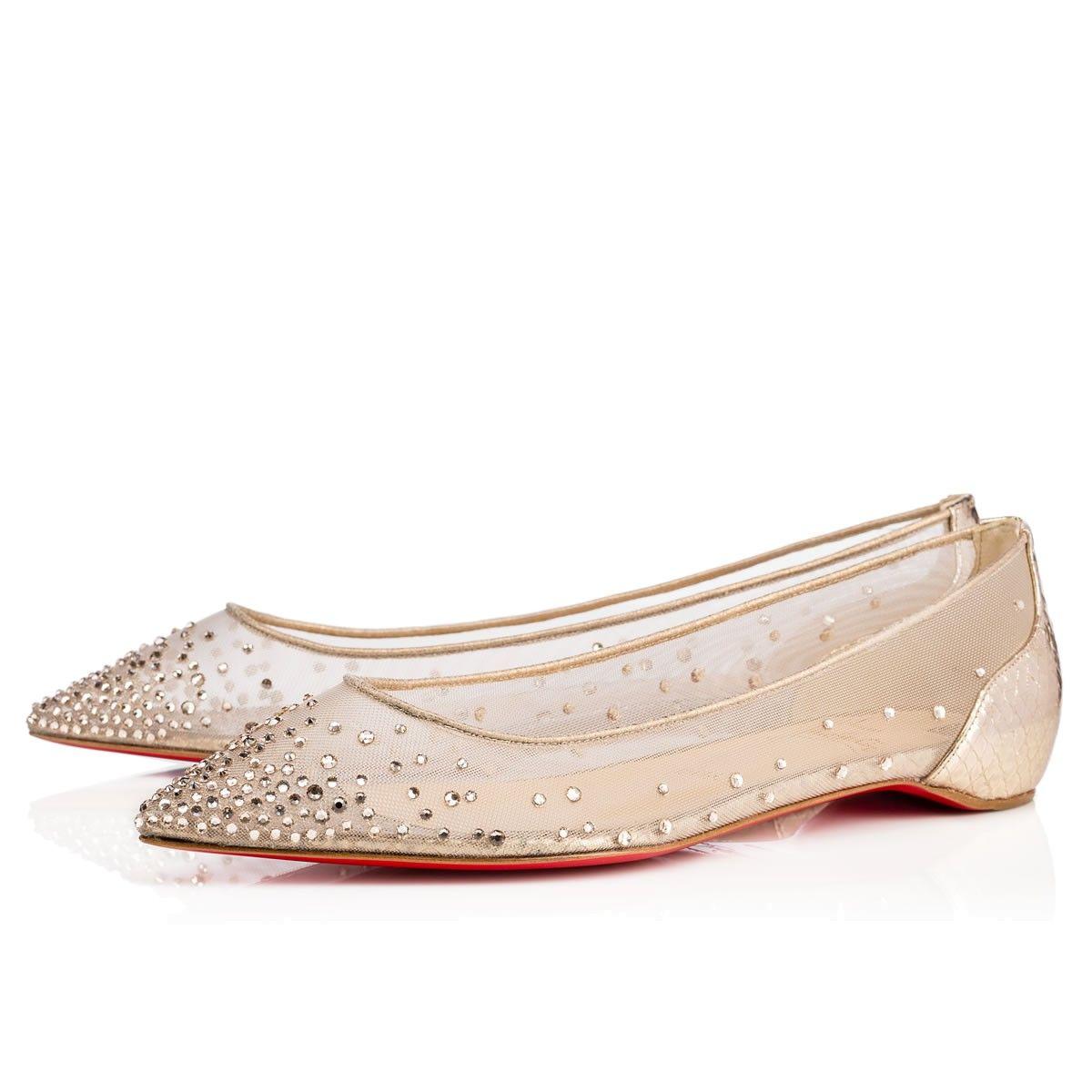 96d324fc5b1 Shoes - Follies Strass Flat - Christian Louboutin