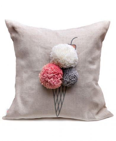 Подушка декоративная Мороженка Счастье в мелочах #livingroomcolorschemeideas