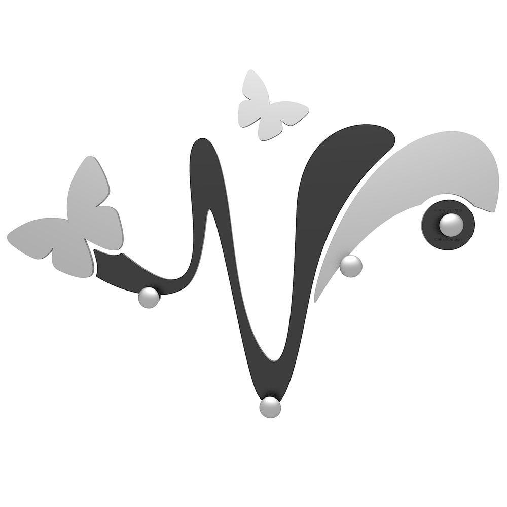 Appendiabiti da Parete Farfalla 69cm x 48cm Vari Colori Made in Italy