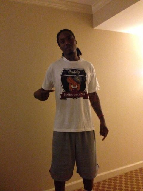 Basketball star, Marquis Daniels reppin Cuddy, lil Swig t-shirt'