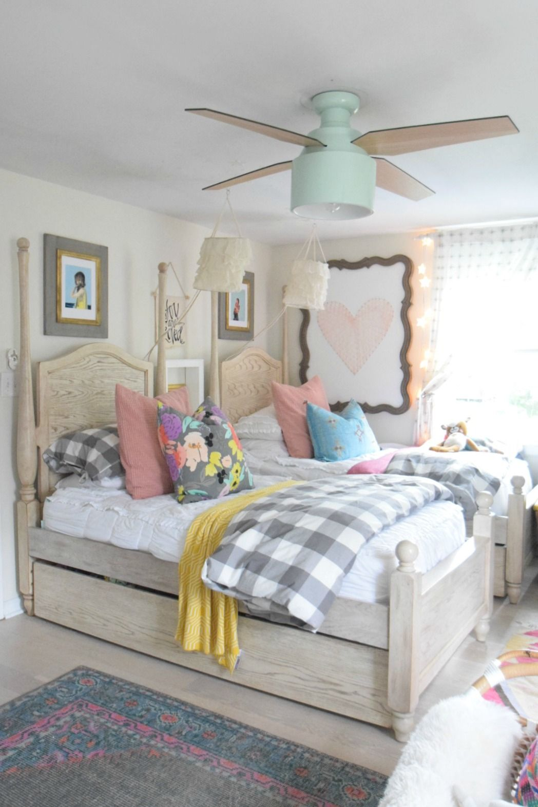 Modern Ceiling Fans Shared Girls Bedroom Ceiling Fan Bedroom