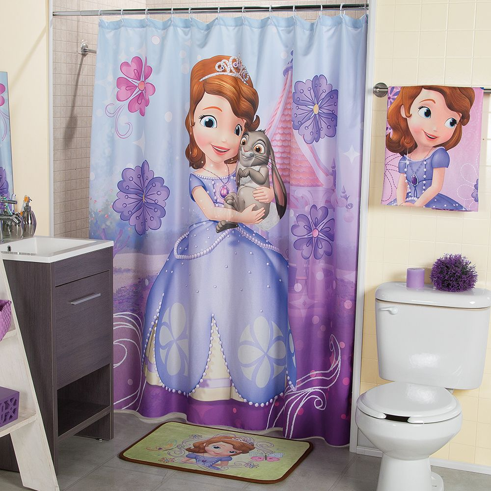 Cortina para ba o princesita sof a recamara ni as for Accesorios para cortinas de bano