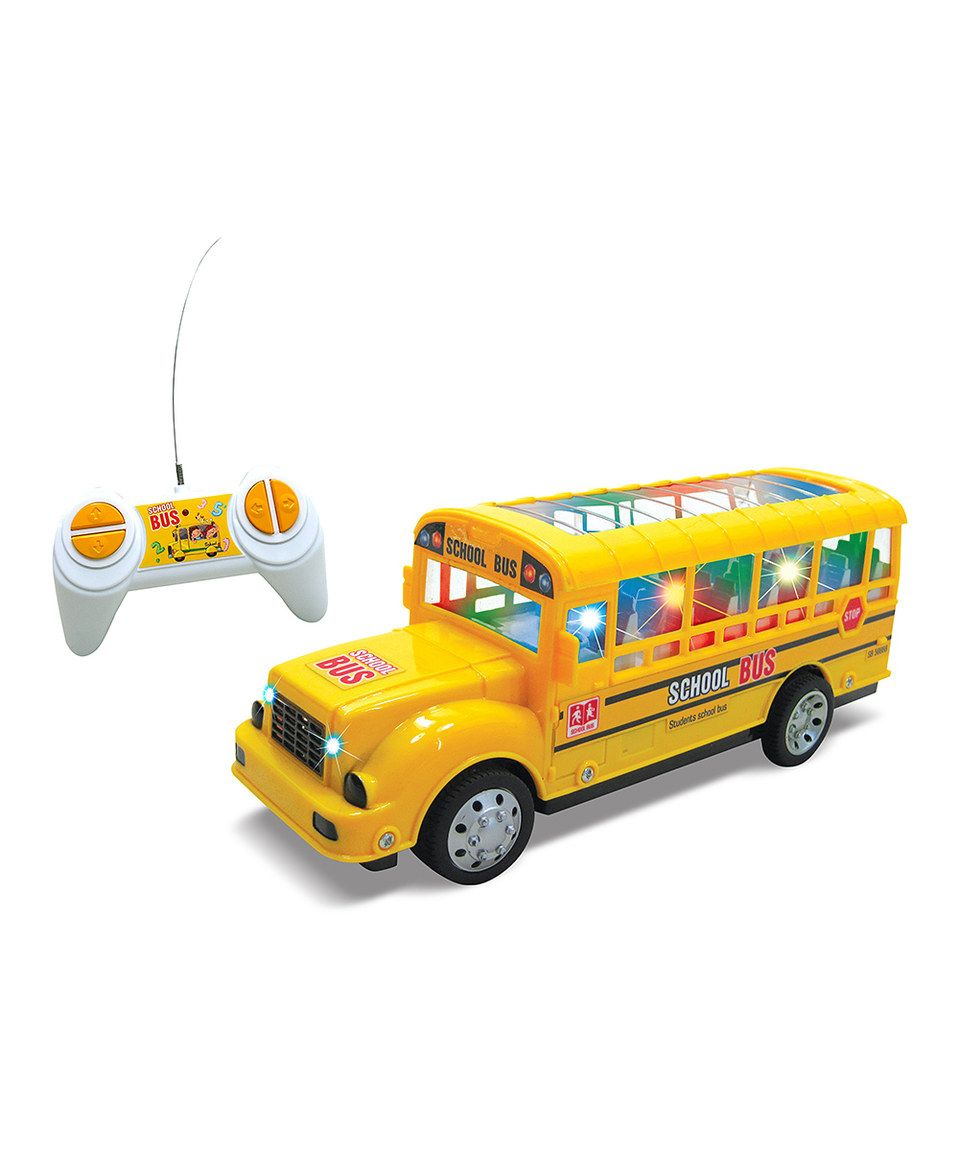 Another great find on zulily remote control school bus