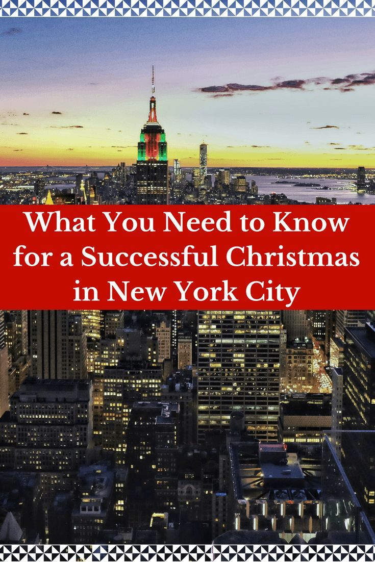 What You Need To Know For A Successful Christmas In New