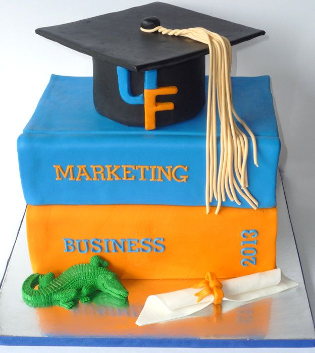 Uf Graduation Stacked Books Cake Everything Is Edible By