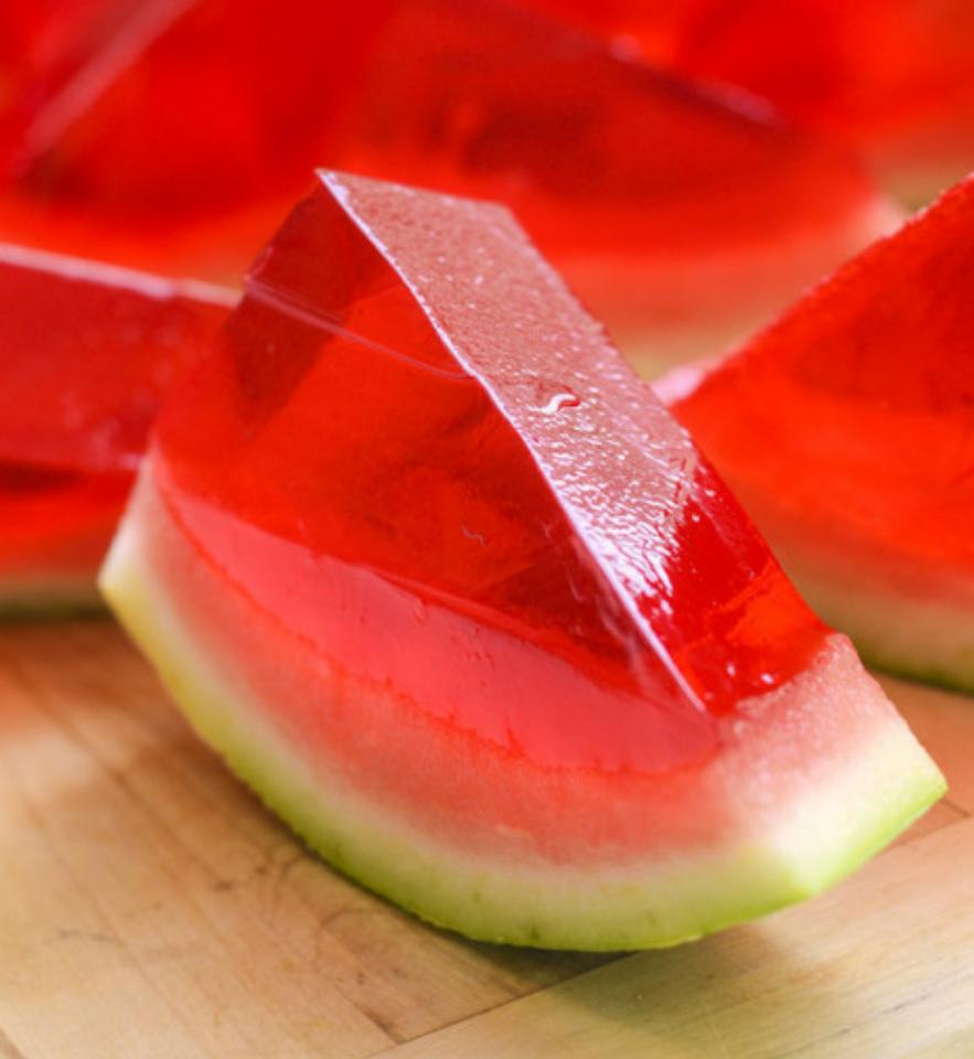 Wassermelone Wackelpudding Vodka Shot