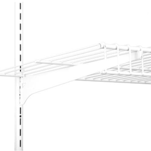16 In Single Track Wire Shelf Bracket White At Menards Wire Closet Shelving Wire Shelving Shelf Brackets