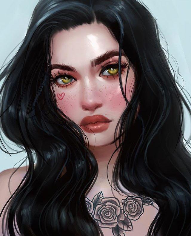 Pin By Hershey22 On Drawings Digital Portrait Art Digital Art Illustration Digital Art Girl