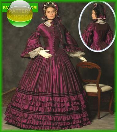 Simplicity 4510 Civil War Era Evening Dress/Gown Pattern | costumes ...