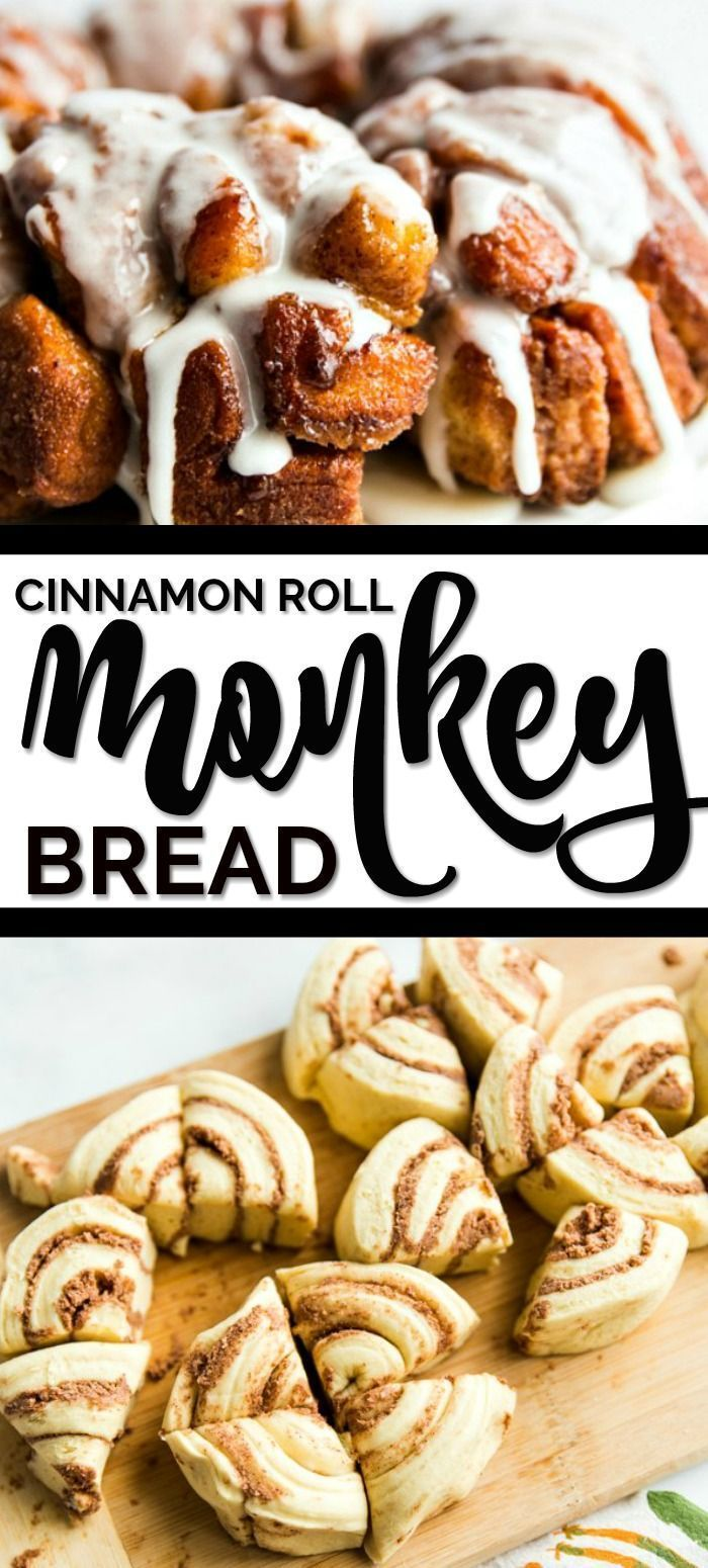 Two of my all time favorite easy breakfast recipes to be cinnamon rolls and monk... -