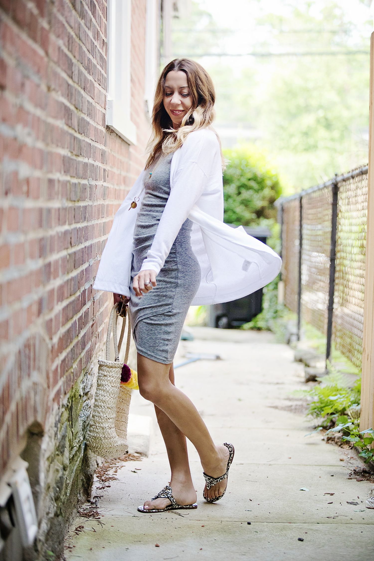 1dc4664cec7 The Motherchic wearing leith dress and summer layers
