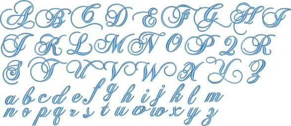 Fancy Script Alphabet Uppercase And Lowercase Monogram Fonts Set
