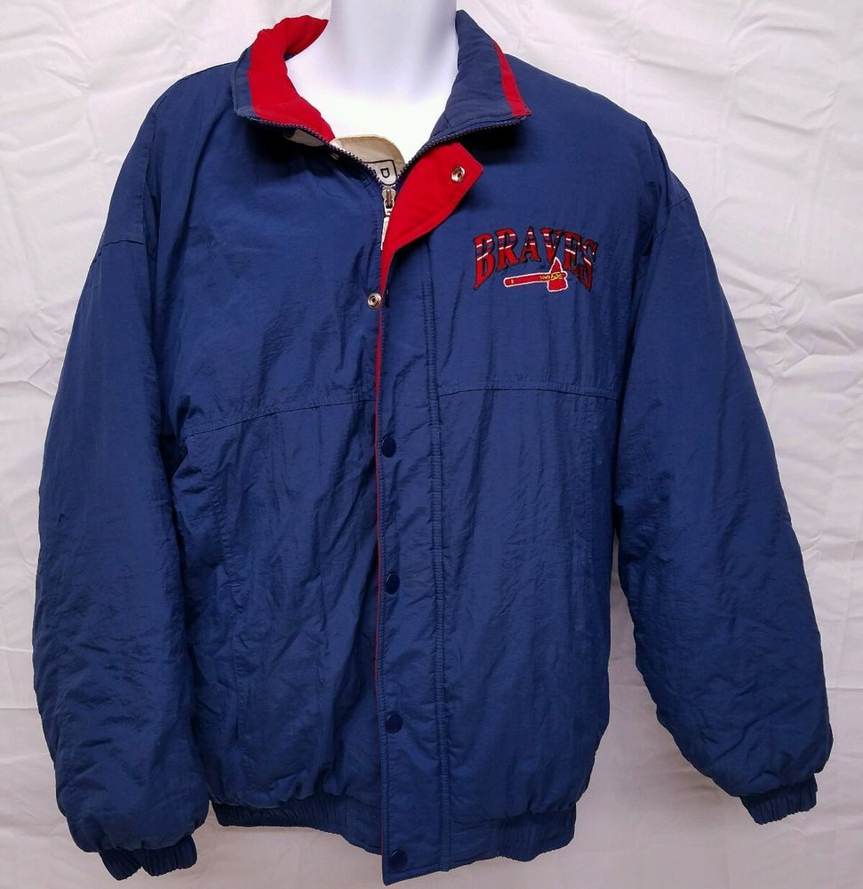 Starter Atlanta Braves Jacket Large Rare Genuine Merchandise Thick Puffy Winter Starter Atlantabraves Jackets Mlb Jackets Atlanta Braves