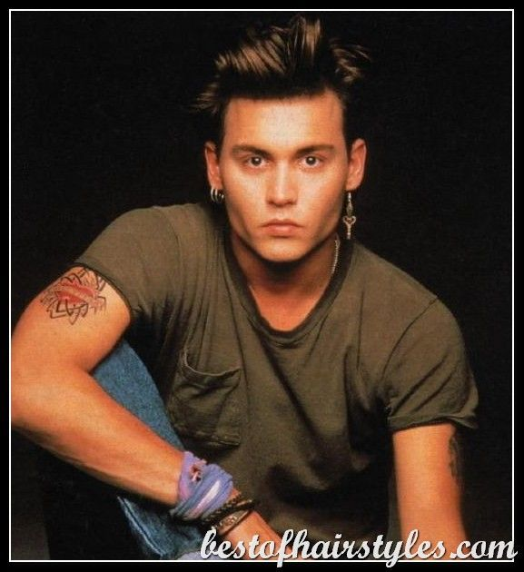 Guys Hairstyles 1980s Google Search Johnny Depp Hairstyle Johnny Depp 1980s Hair