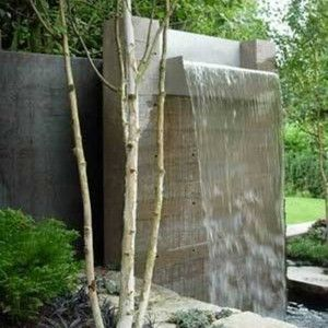 Concrete Modern Backyard Waterfalls Modern Backyard Waterfalls