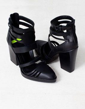 Heels Women Shoes Leather Strap Sandals